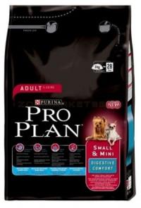 PRO PLAN Small & Mini Adult Digestive Comfort – ПУЙКА И ОРИЗ (3 кг)